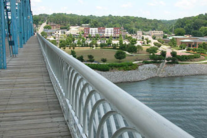 Chattanooga Riverwalk (Tennessee Riverpark) View from Pedestrian Bridge