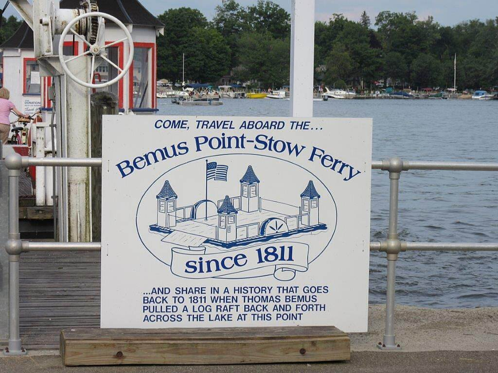 Chautauqua Rails-to-Trails Stow-Bemus Ferry Seasonal Stow-Bemus Ferry.  Take the ferry across the lake and enjoy some time in Bemus Point.