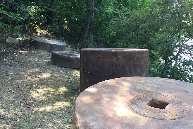 Cheat Lake Trail Grist stones