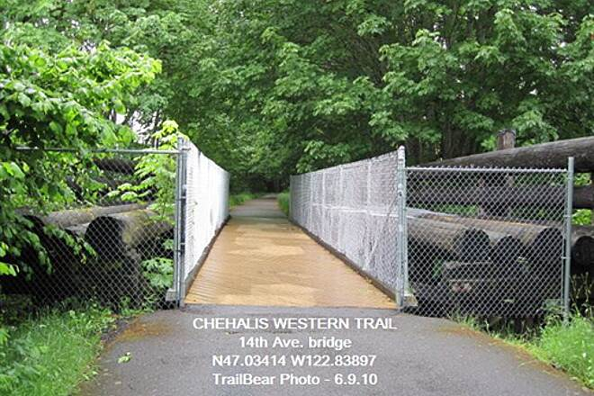 Chehalis Western Trail CHEHALIS WESTERN @ OLYMPIA The 14th Ave. bridge out of Chambers Lake TH