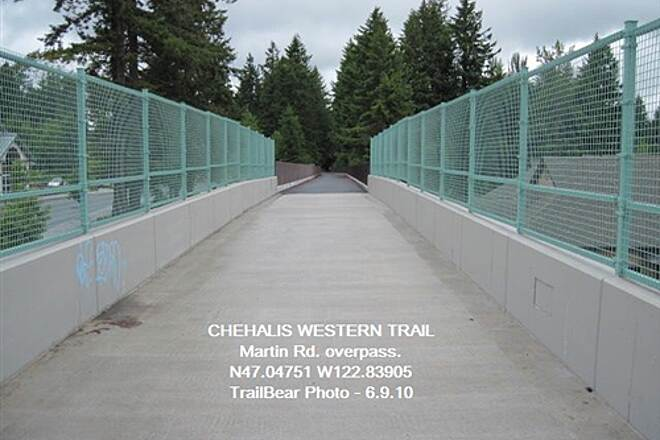 Chehalis Western Trail CHEHALIS WESTERN @ OLYMPIA Martin Rd. overpass