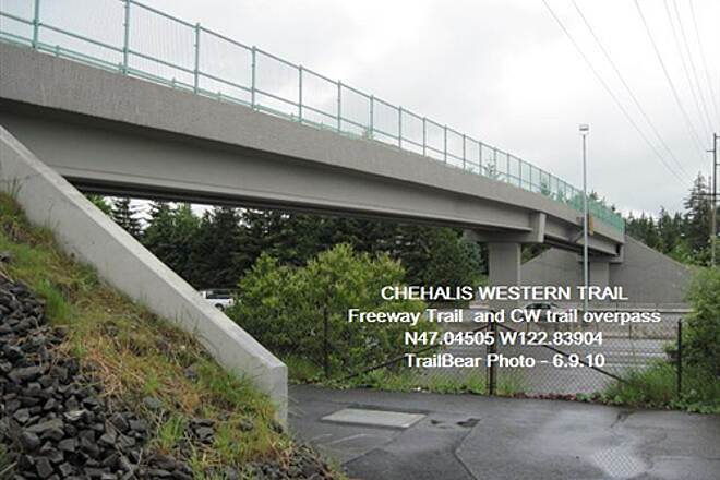 Chehalis Western Trail CHEHALIS WESTERN @ OLYMPIA The CW crosses over I-5, the Freeway Trail runs alongside.