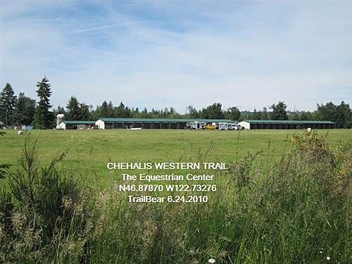 Chehalis Western Trail CHEHALIS WESTERN TRAIL A rather large equestrian center on both sides of the trail.