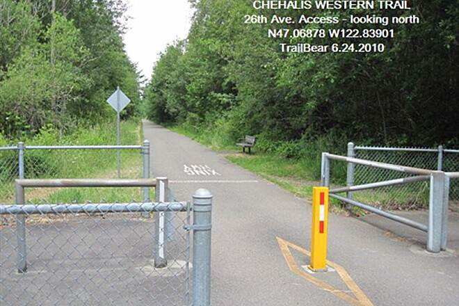 Chehalis Western Trail CHEHALIS WESTERN Access parking on 26th Ave NE