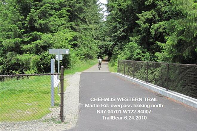 Chehalis Western Trail CHEHALIS WESTERN Martin Rd. overpass, heading north