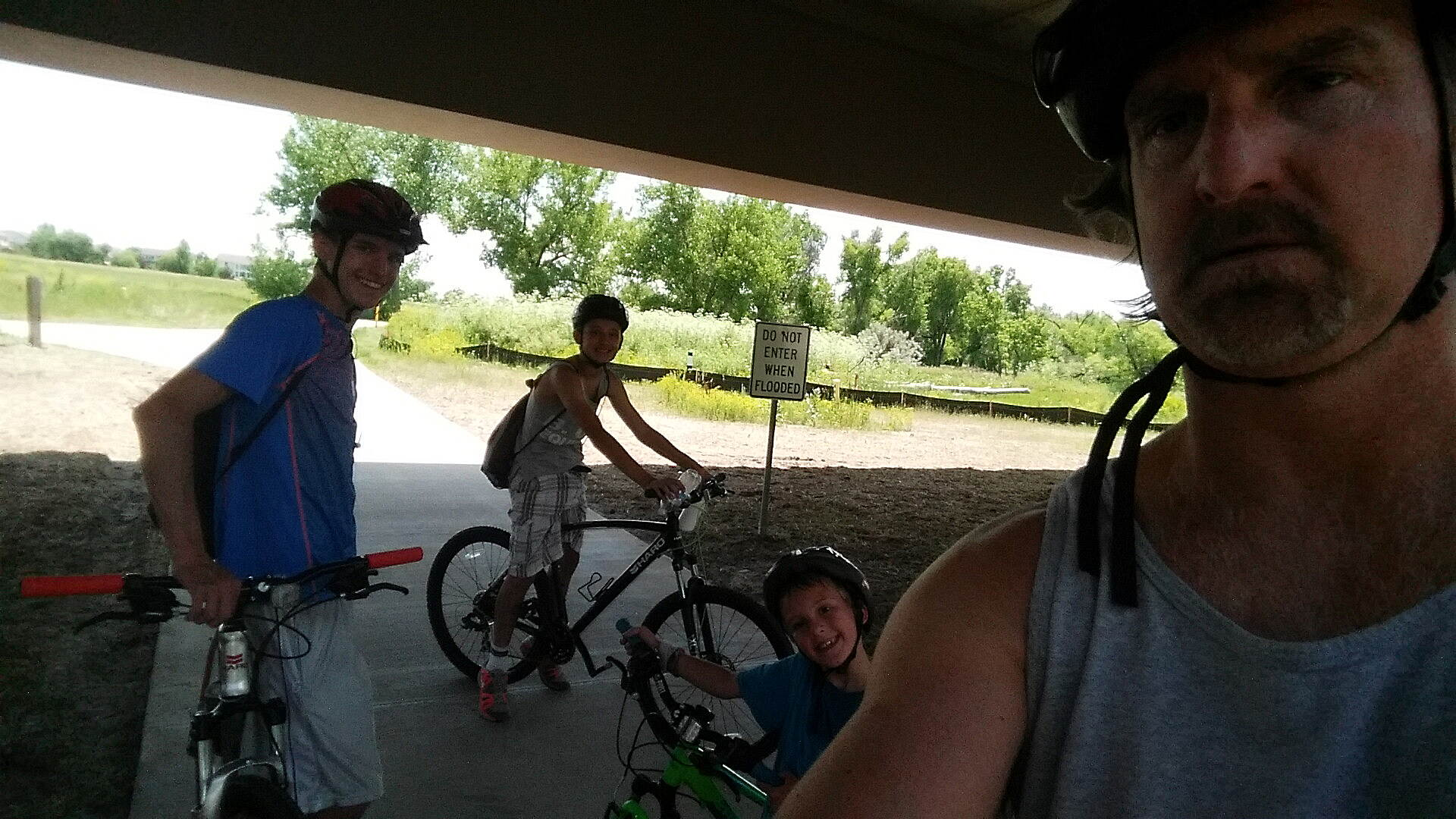 Cherry Creek Regional Trail out with the boys