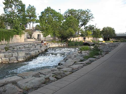 Cherry Creek Regional Trail Cherry Creek Trail Weekday Evening Ride downtown at the falls