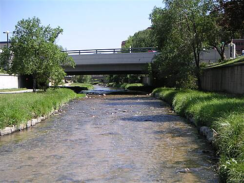 Cherry Creek Regional Trail   From a bridge across the creek in downtown area