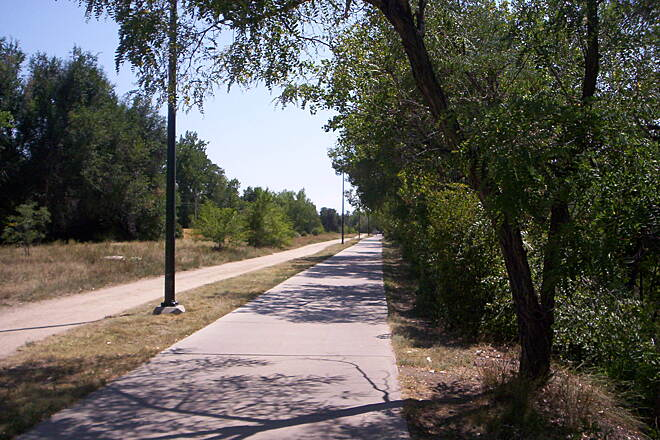 Cherry Creek Regional Trail Path Paved for biking, gravel for jogging