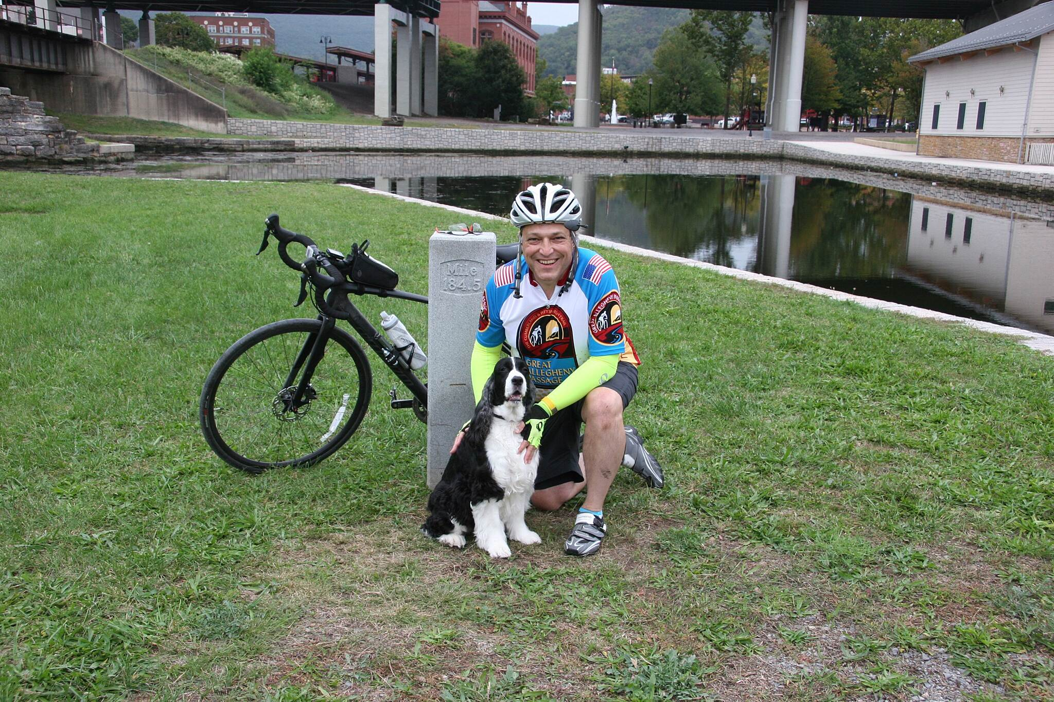 Chesapeake & Ohio Canal National Historical Park With Atticus at Mile 184.5.  Journey completed.