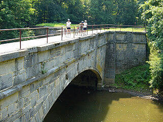 Chesapeake & Ohio Canal National Historical Park Aquaduct Great stonework between Big Pool and Hancock.