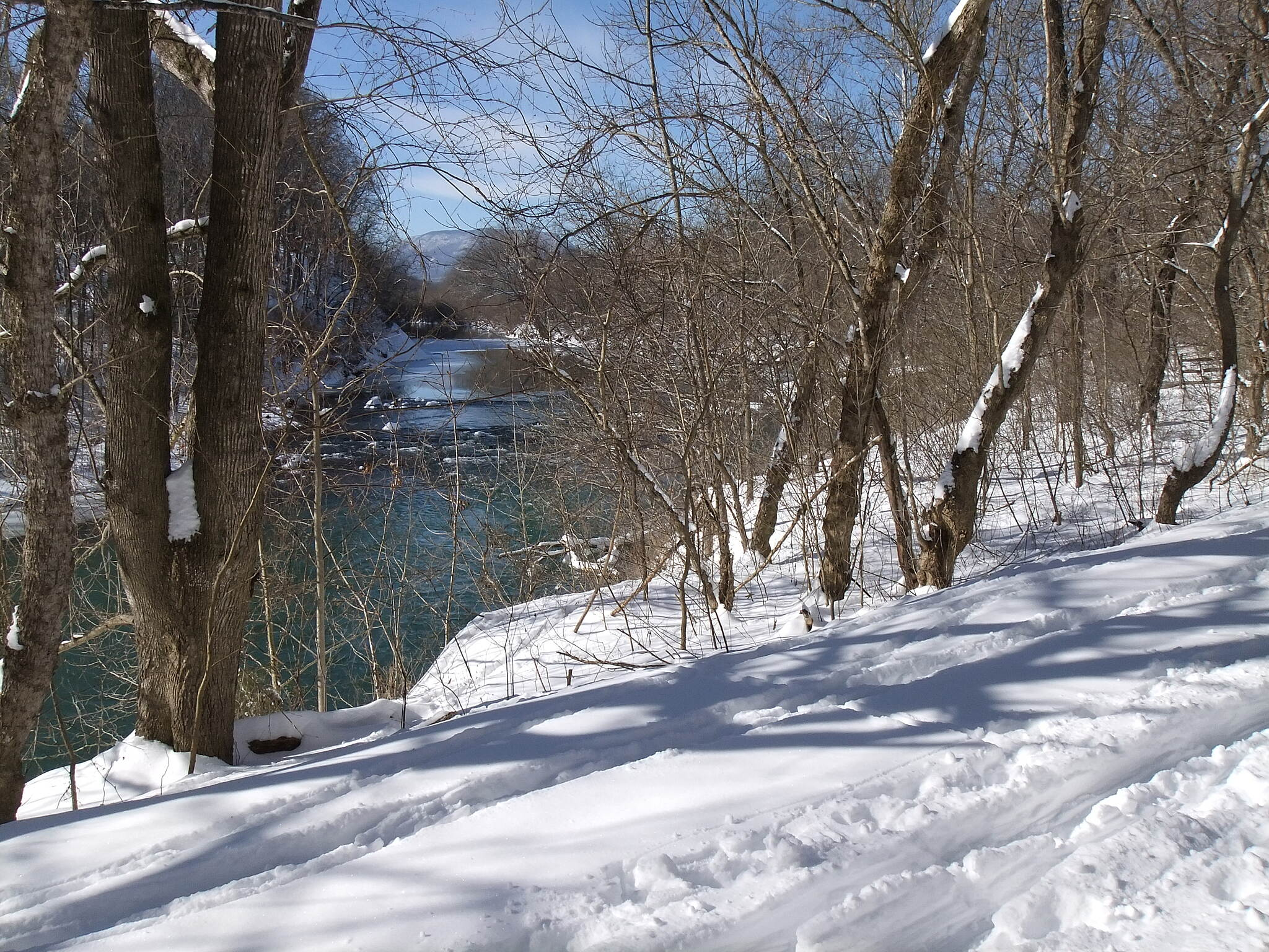 Chessie Nature Trail 2016 Blizzard view of House Mtn. & the Maury River