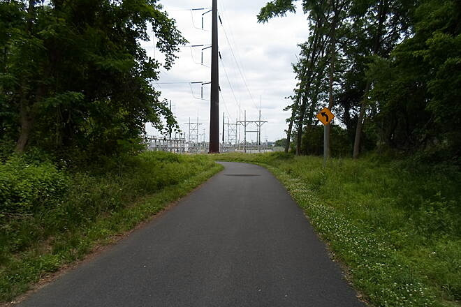 Chester Valley Trail Chester Valley Trail Approaching the substation west of King of Prussia. Taken June 2015.