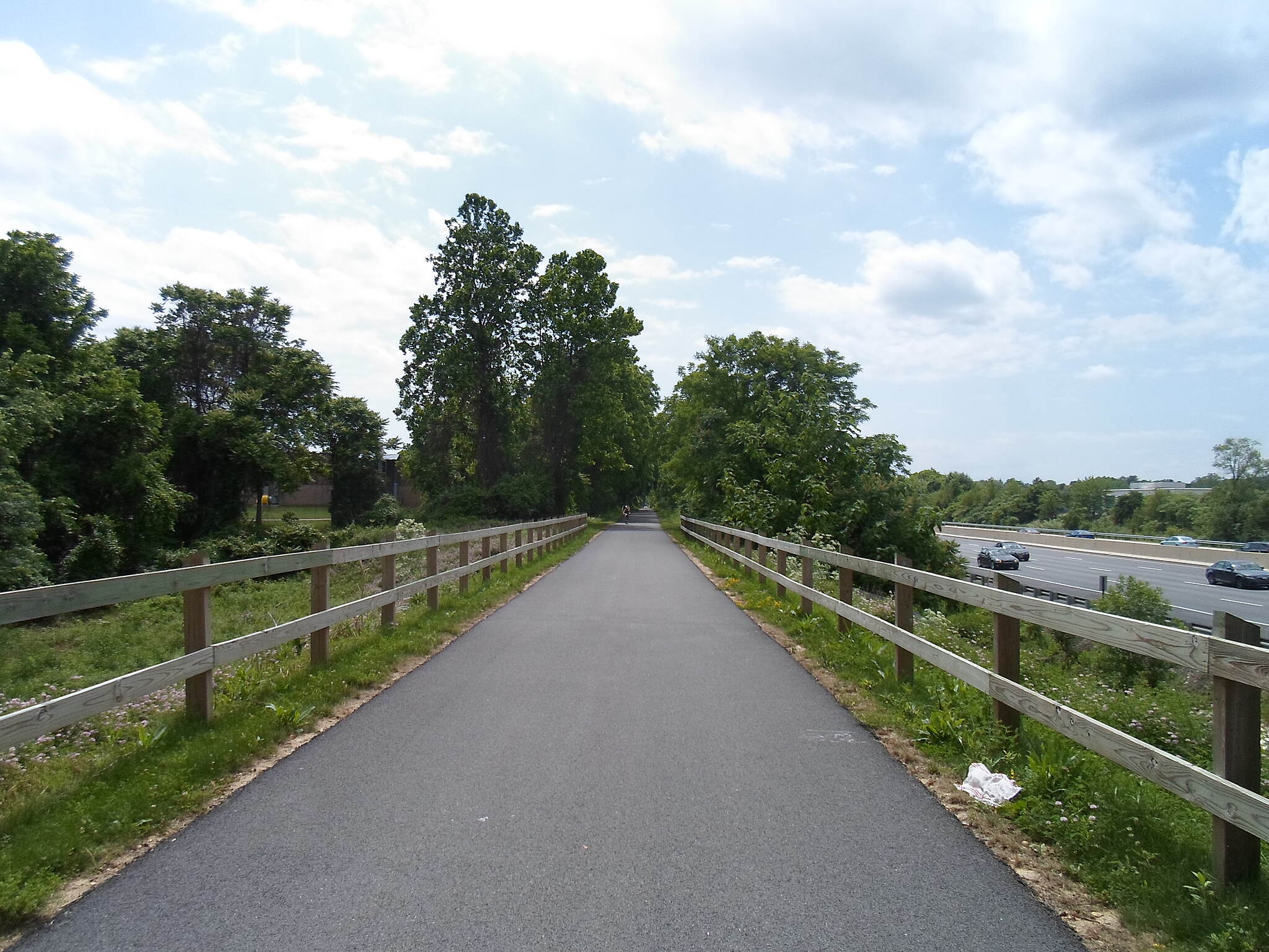 Chester Valley Trail Chester Valley Trail Trail and expressway (Route 202) side-by-side in eastern Chester County. Taken June 2015.