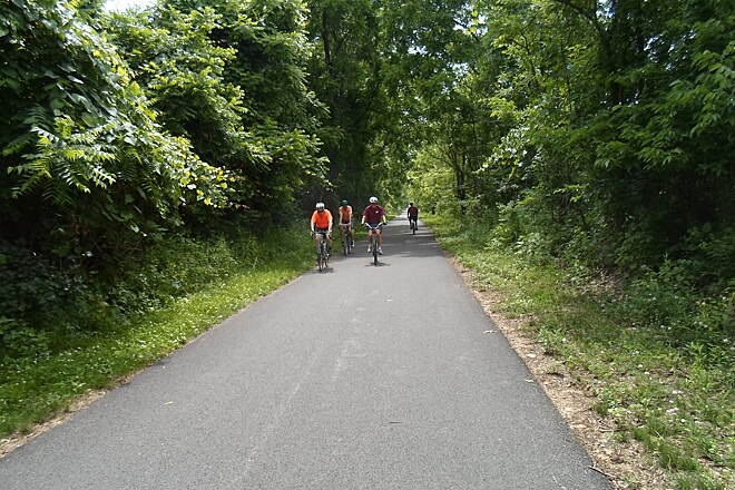 Chester Valley Trail Chester Valley Trail Cyclists enjoying an early summer day on the trail in eastern Chester County.