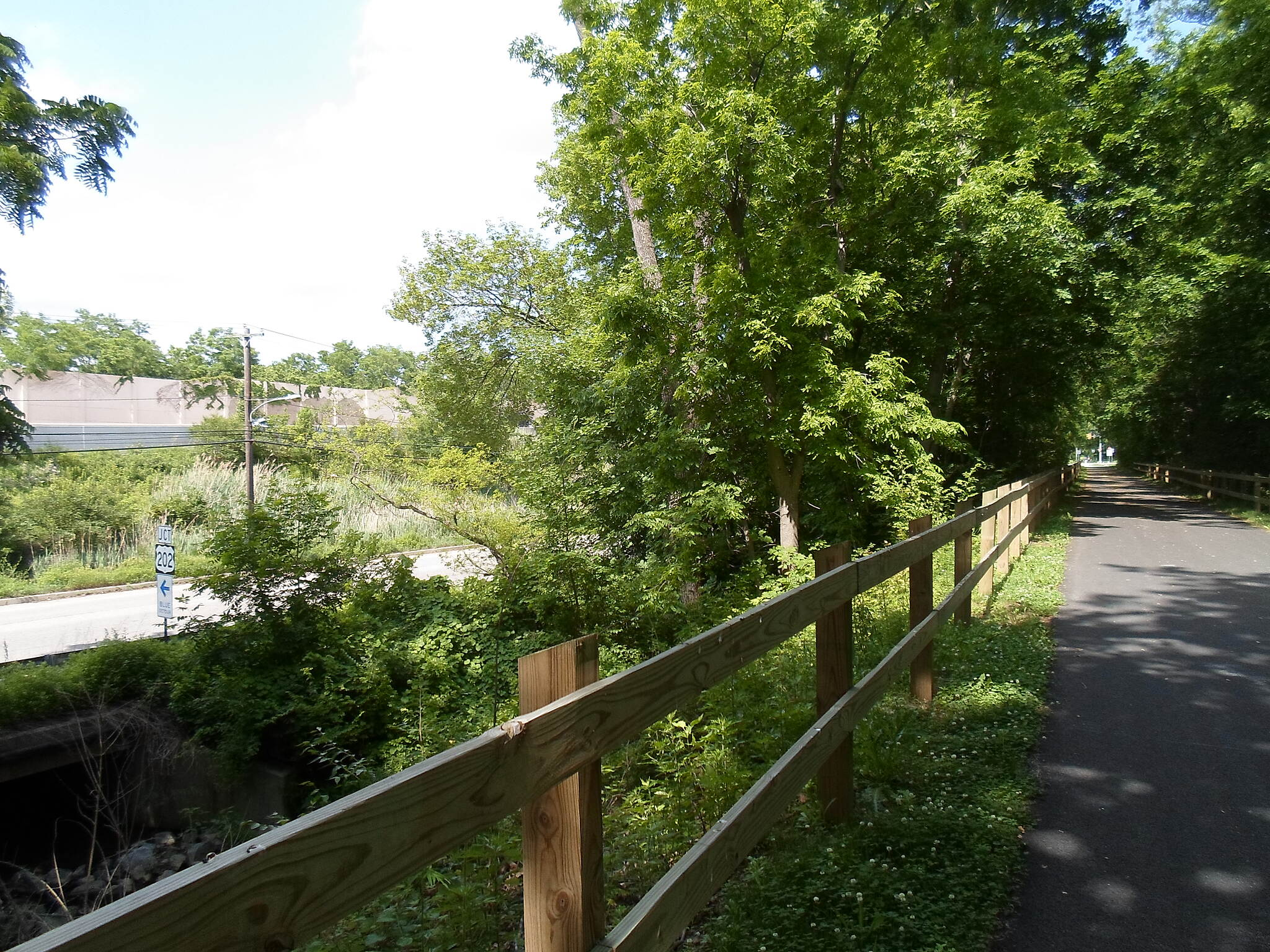 Chester Valley Trail Chester Valley Trail Route 202 (far left), Swedesford Road (near left) and the Chester Valley Trail (right), side by side between Valley and Valley Forge roads in eastern Chester County.