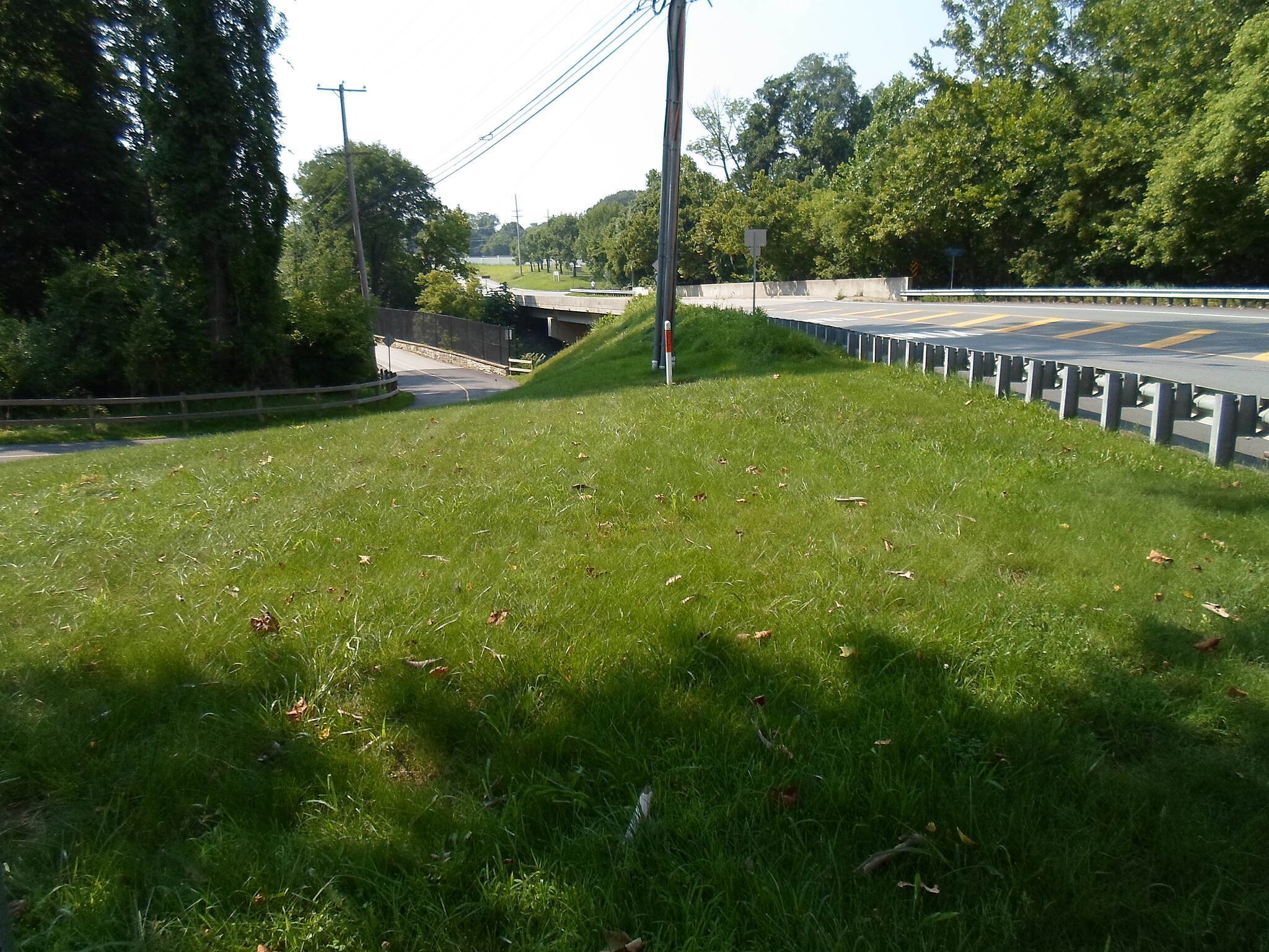 Chester Valley Trail Chester Valley Trail Refurbished trail bridge, left, and Cedar Hollow Road bridge, right, side-by-side on the east end of the Vanguard Corporate Center. Taken July 2015.