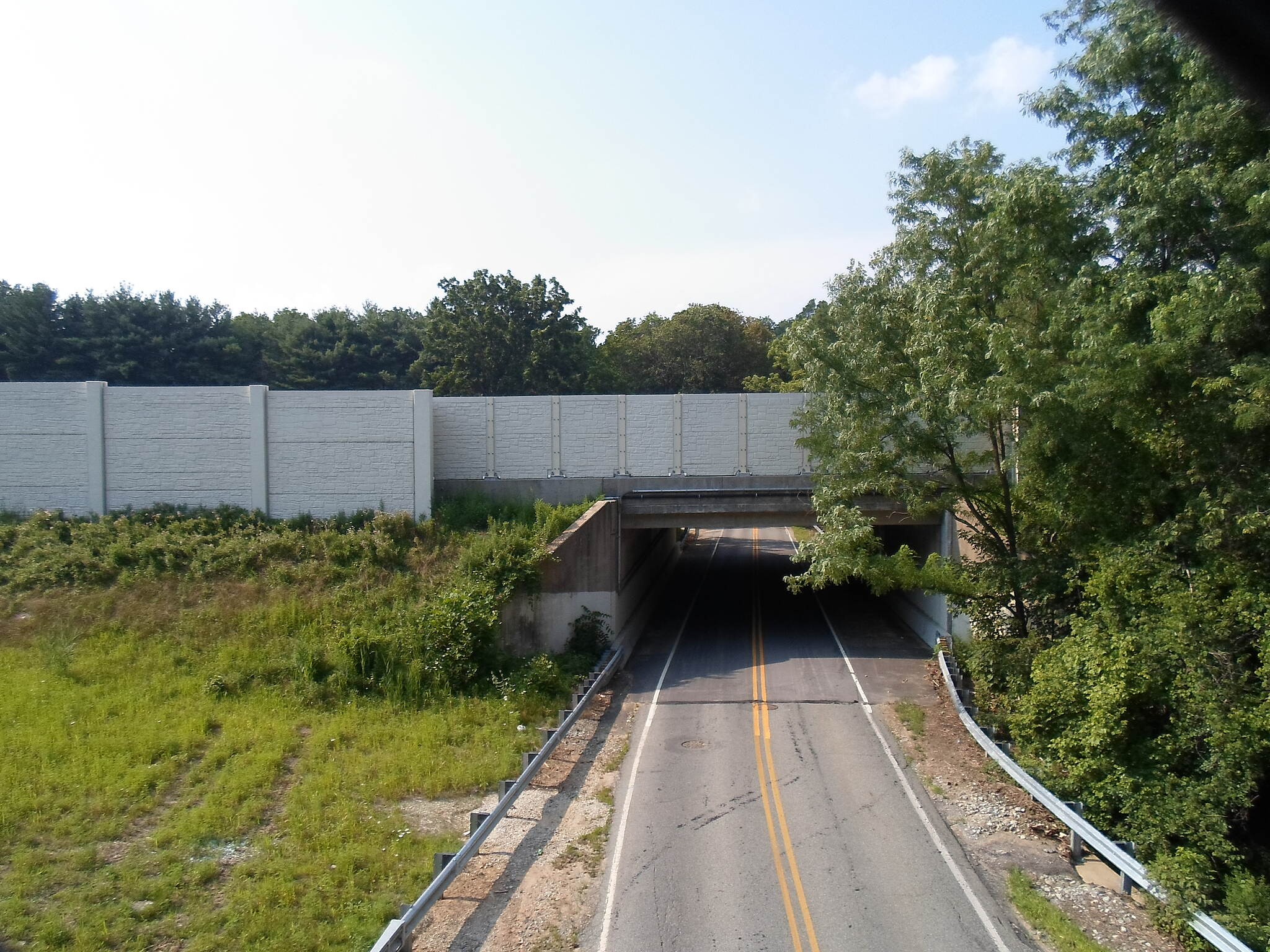 Chester Valley Trail Chester Valley Trail The Route 202 bridge over Valley Road can be seen immediately north of the trail bridge, which replaces a long since demolished railroad overpass. Taken July 2015.