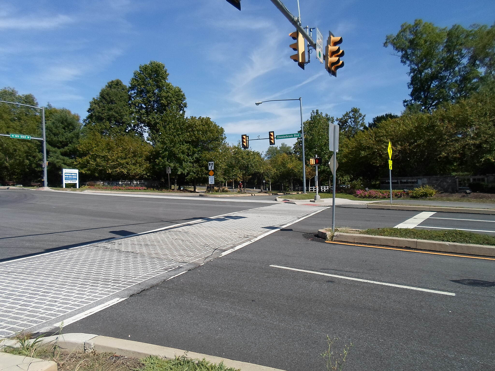 Chester Valley Trail Chester Valley Trail Crossing Chesterbrook Blvd. Taken Sept. 2015.
