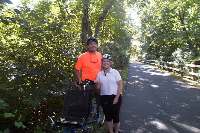 Chester Valley Trail Chester Valley Trail Another couple enjoying a ride on the trail near the end of summer. Taken Sept. 2015.