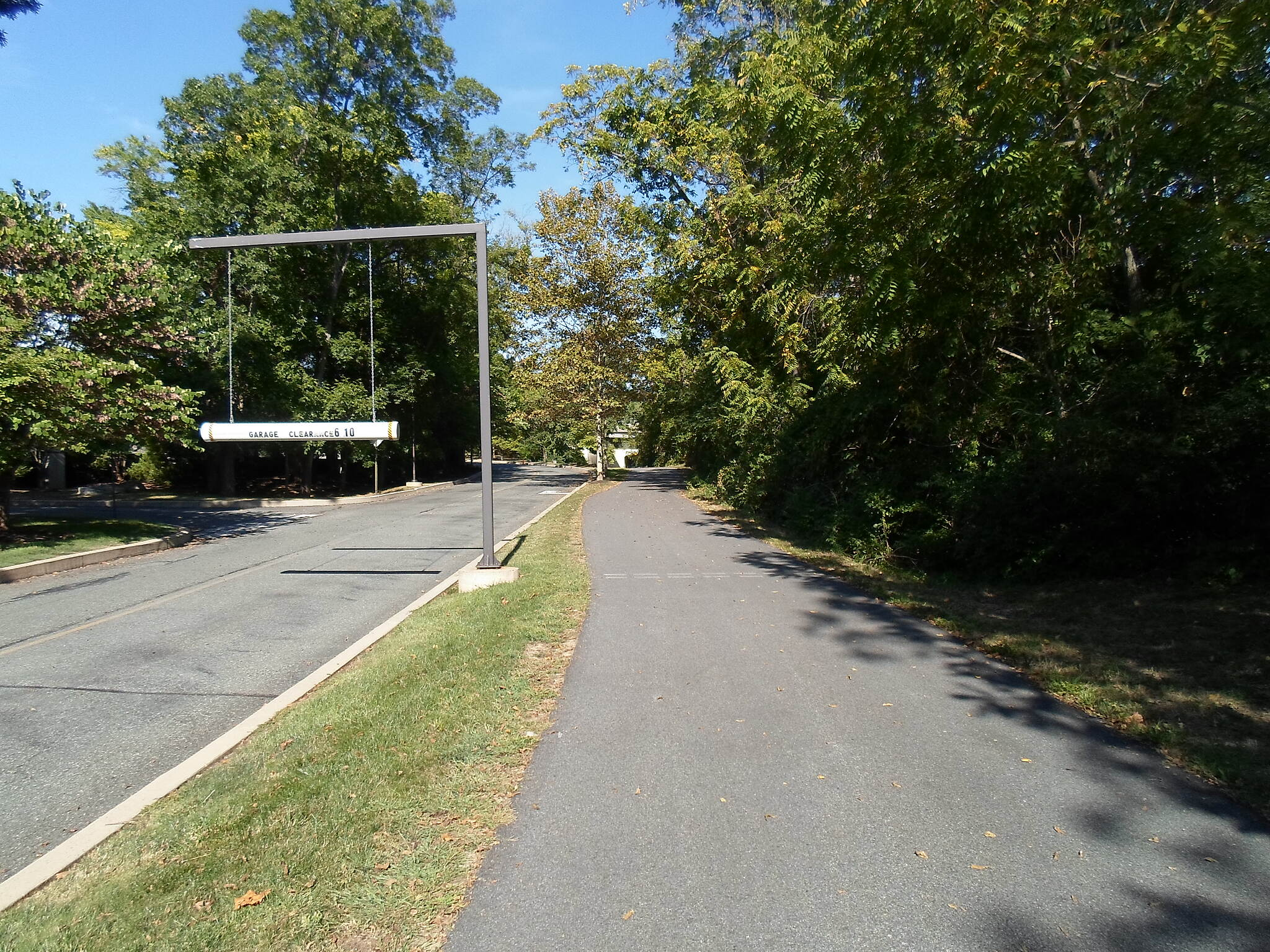 Chester Valley Trail Chester Valley Trail Paralleling an access road through an office park between Chesterbrook Blvd. and Route 252.