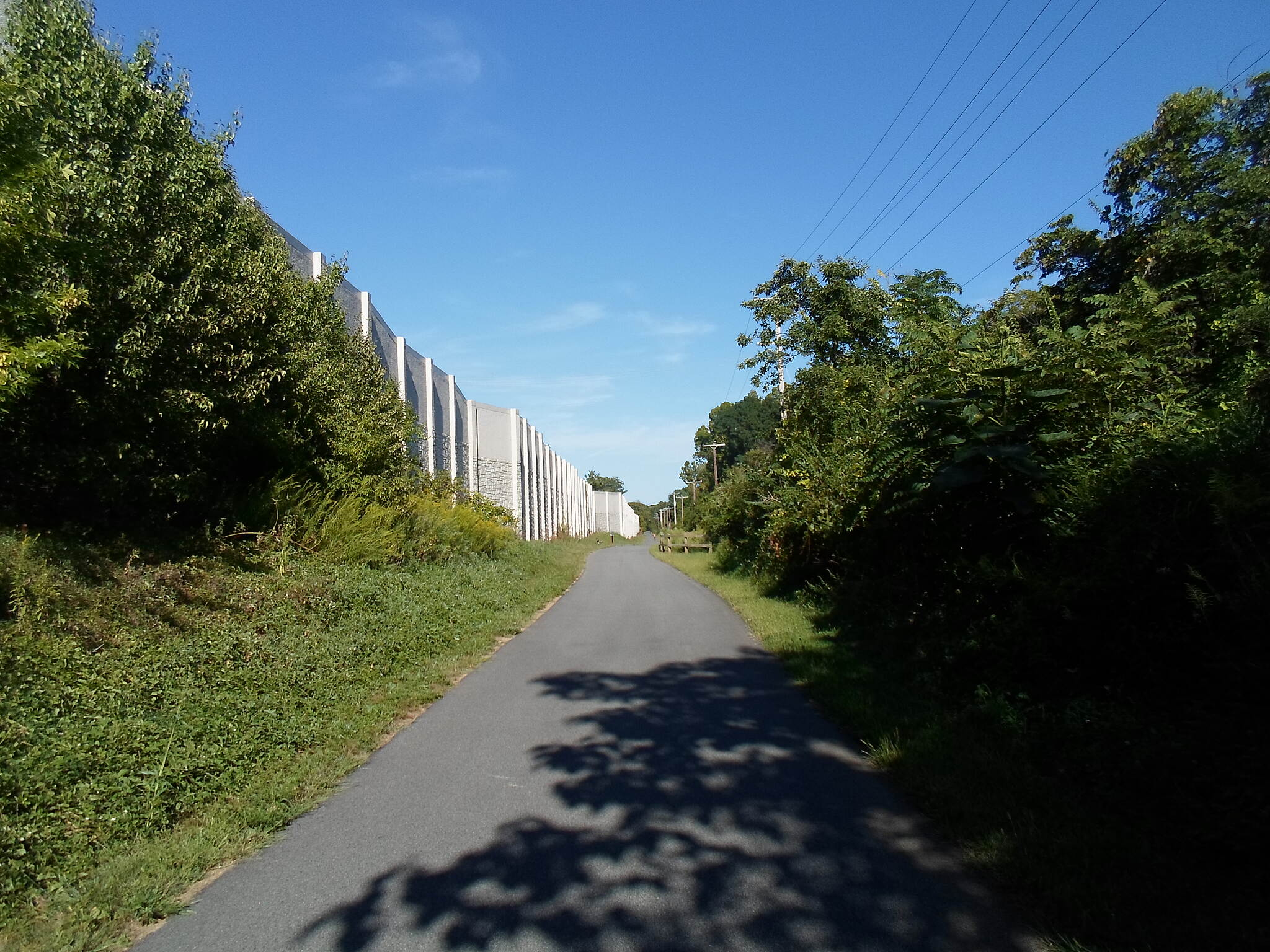 Chester Valley Trail Chester Valley Trail The trail runs south of the sound walls between Route 252 and Valley Forge Road. Taken Sept. 2015.