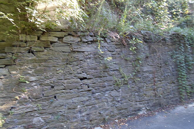 Chester Valley Trail Chester Valley Trail This old, stone wall can be seen along the trail immediately east of the Route 252 tunnel.