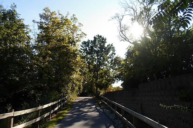 Chester Valley Trail Chester Valley Trail Heading west of Route 252 toward Chesterbrook Blvd. in Tredyffrin Twp. Taken Sept. 2015.