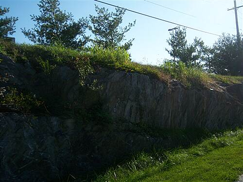 Chester Valley Trail Chester Valley Trail Rock cut on Exton segment, near Wal_Mart, is a remnant of the original railroad
