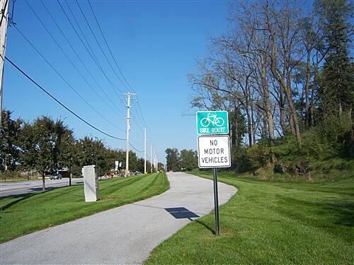 Chester Valley Trail Chester Valley Trail The Exton segment parallels Commerce Drive for about 1/2 mile near the Main Street shopping center.