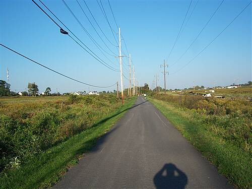 Chester Valley Trail Chester Valley Trail Looking east from Valley Creek Blvd., on middle segment. Taken Oct. 2011.