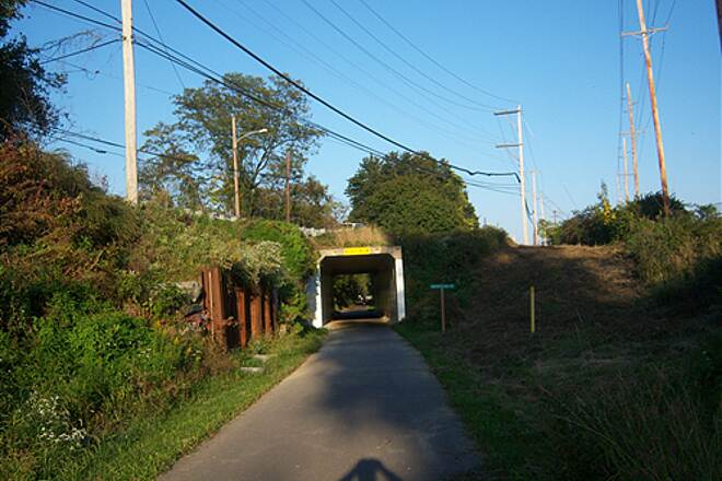 Chester Valley Trail Chester Valley Trail Approaching the Swedesford Road underpass, Oct. 2011.