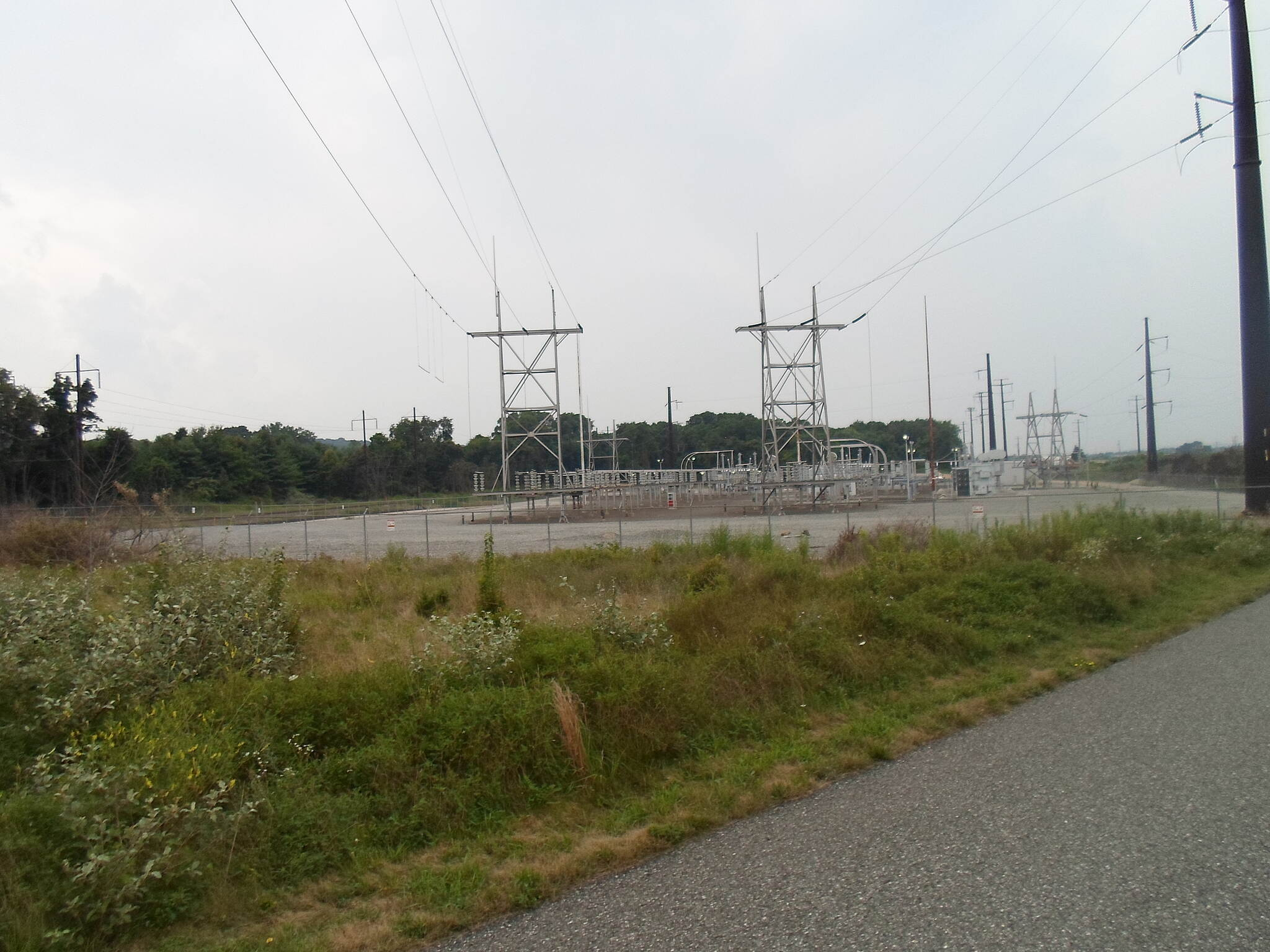 Chester Valley Trail Chester Valley Trail In addition to serving as a hub for rail and road networks, the King of Prussia area is also a site where several high-tension power lines converge. This substation is just east of Warner Road and is visible from the trail.