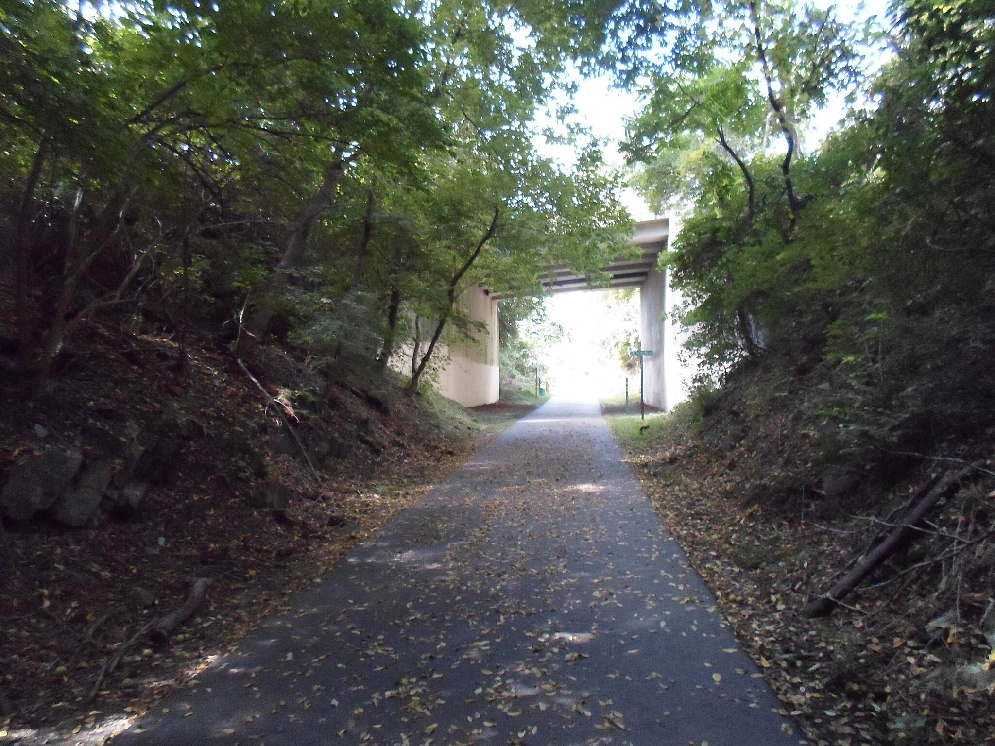 Chester Valley Trail Chester Valley Trail One of two underpasses that carry the trail beneath Swedesford Road, this one is located near Malvern. Taken September 2013.
