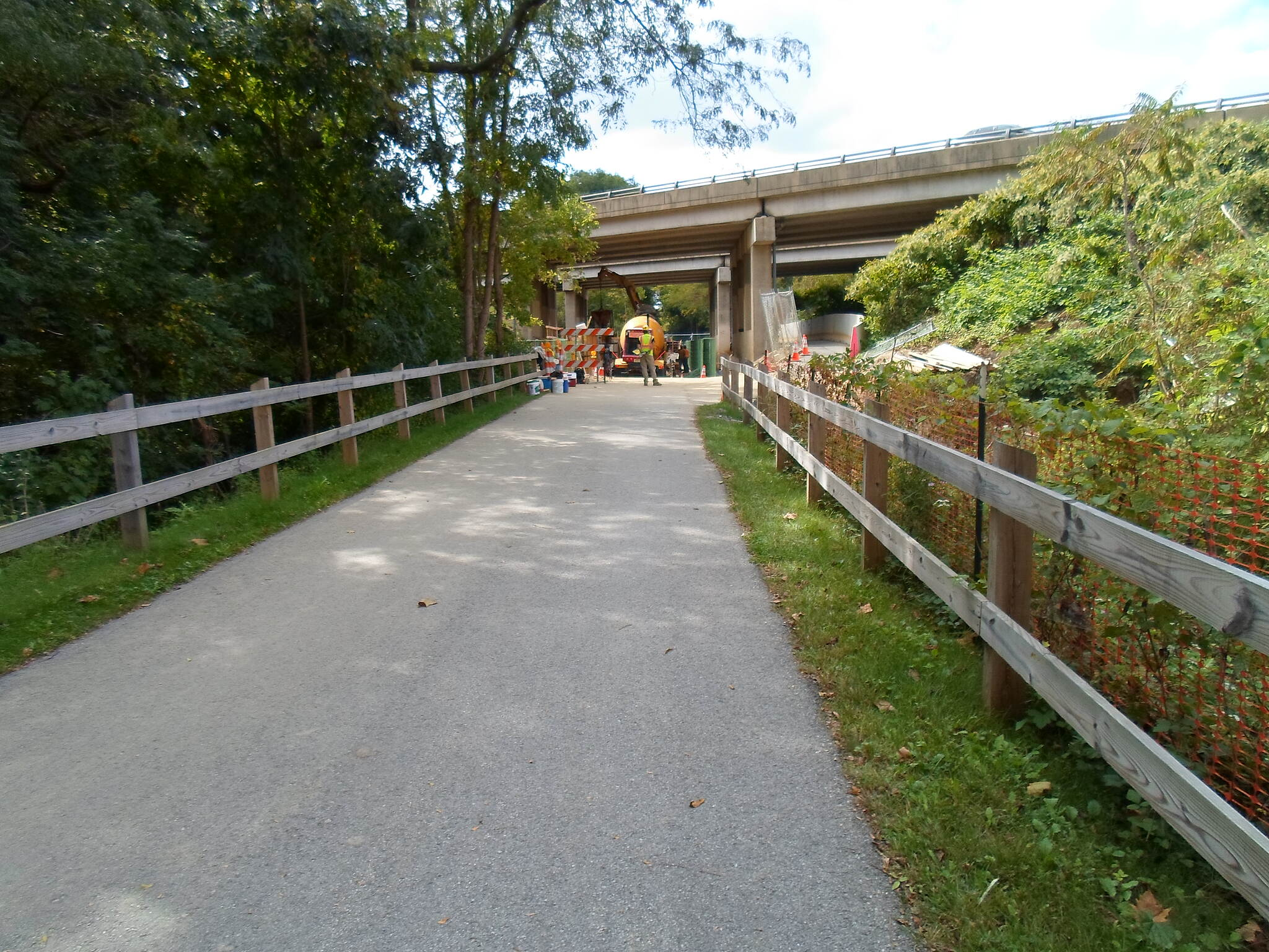 Chester Valley Trail Chester Valley Trail Approaching the Route 202 underpass near the Battle of the Clouds Park. Users are advised to be careful because of ongoing construction, though there is a clearly marked path around the work zone. Taken September 2013.