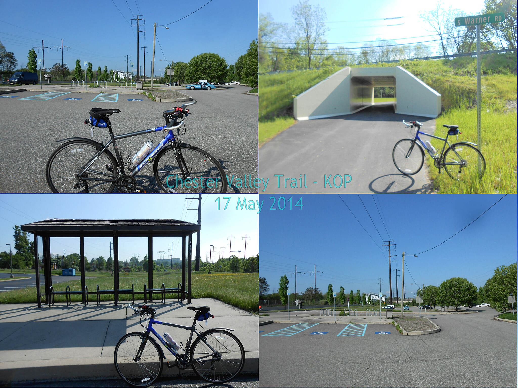 Chester Valley Trail Eastern Terminus - May 2014 The trail's eastern endpoint as of May 2014 in King of Prussia.  Nothing has changed since and is safe to presume that it will be the same status until the end of 2014.