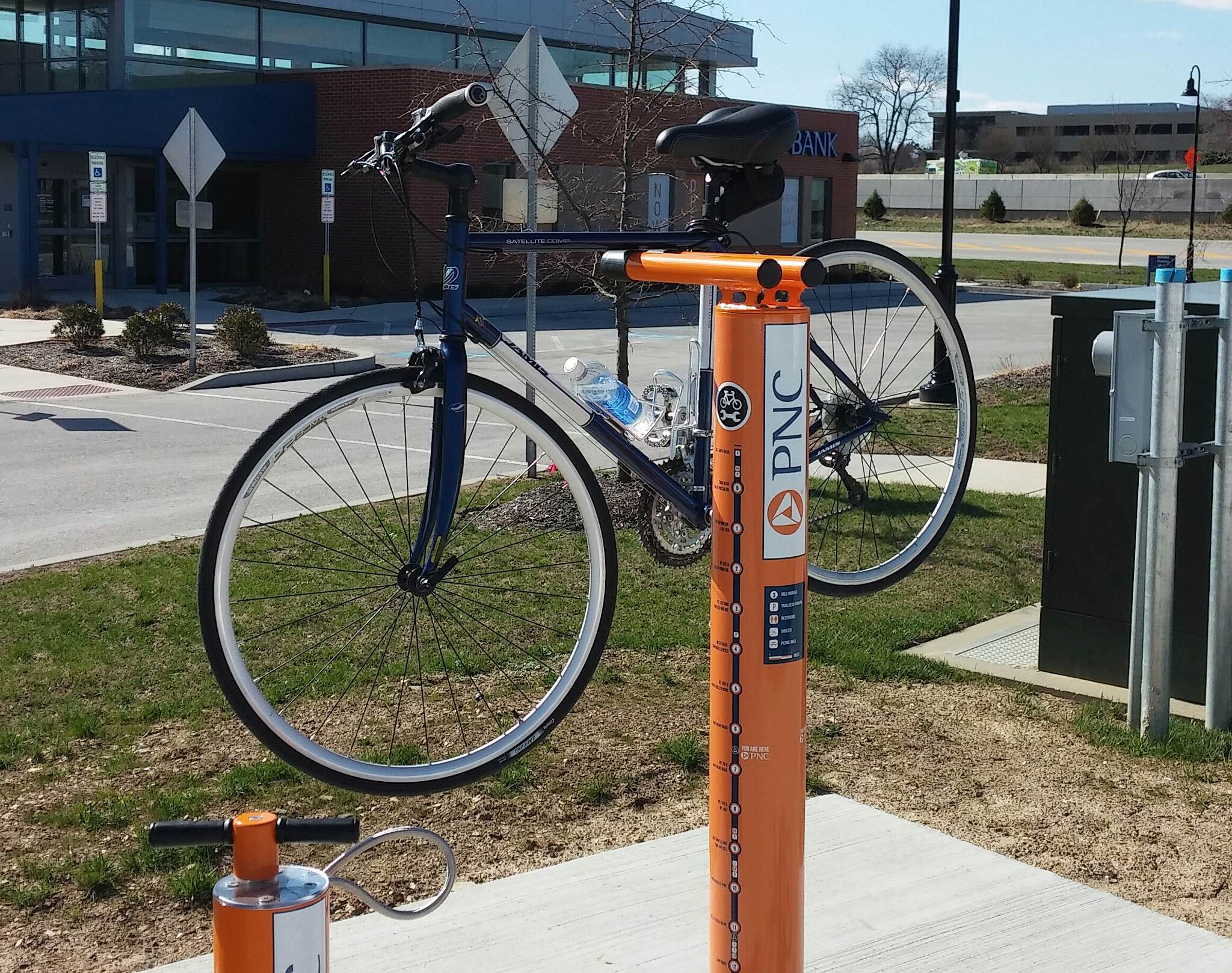 Chester Valley Trail Thanks PNC A repair station along the trail @ a PNC bank.