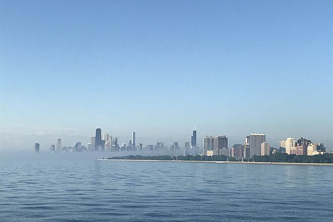 Chicago Lakefront Trail Misty Morning  Beautiful
