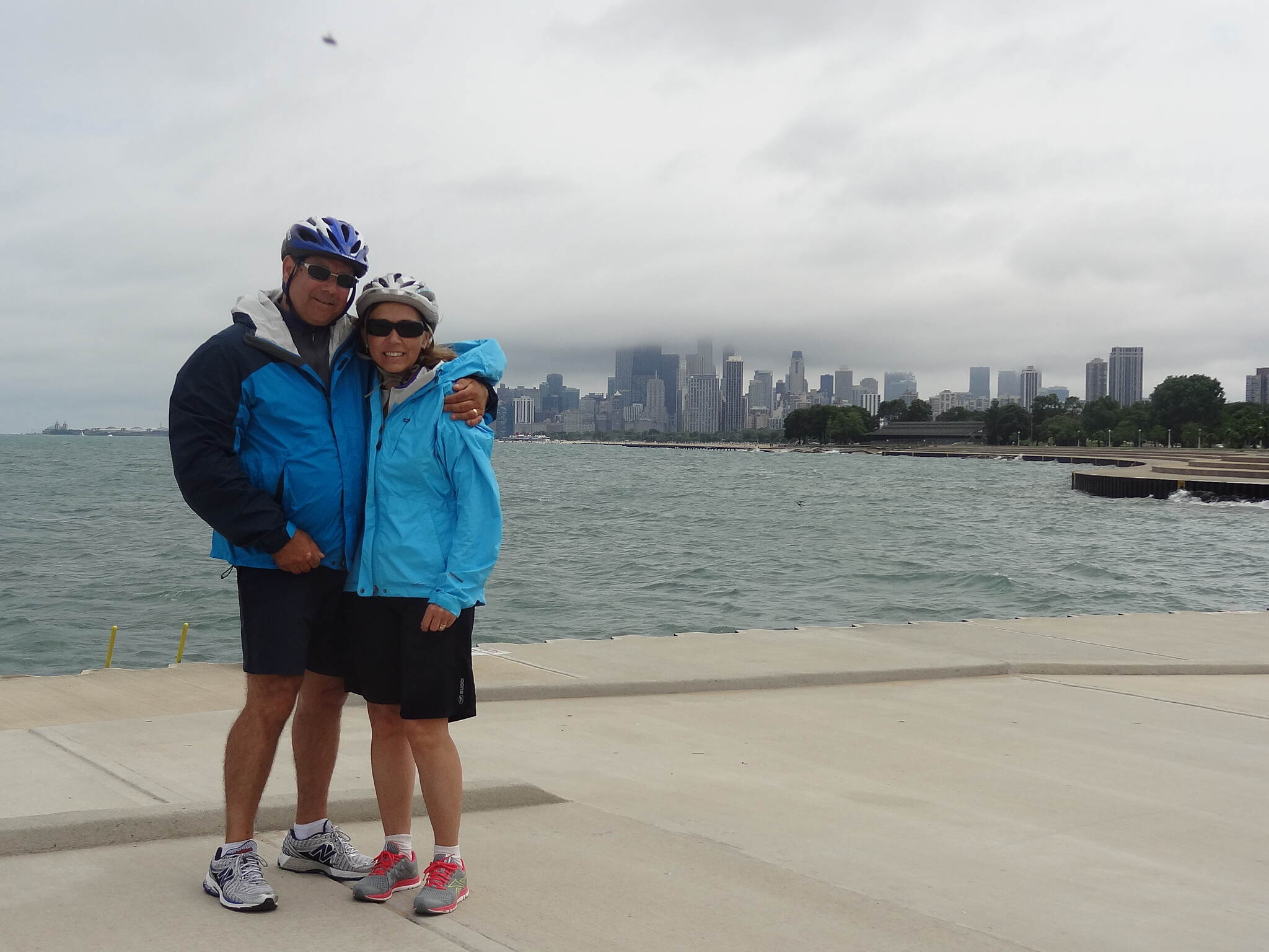 Chicago Lakefront Trail city behind us so much to see...have to stop riding once and a while...