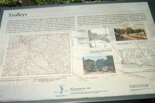 Chickies Rock Overlook Trail Chickies Rock Overlook Trail This interpretive sign explaining the trail's past as a trolley line, and the history of trollies in south-central PA in the early 20th century, is posted at the trailhead.