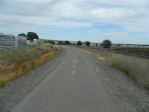 Chico Airport Bike Path Chico Airport Trail Starting down the gental grade