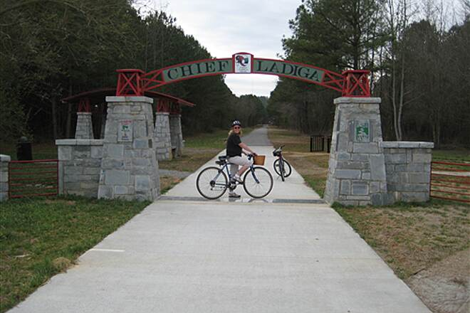 Chief Ladiga Trail Chief Ladiga Trail AL and GA state line 2-10-09