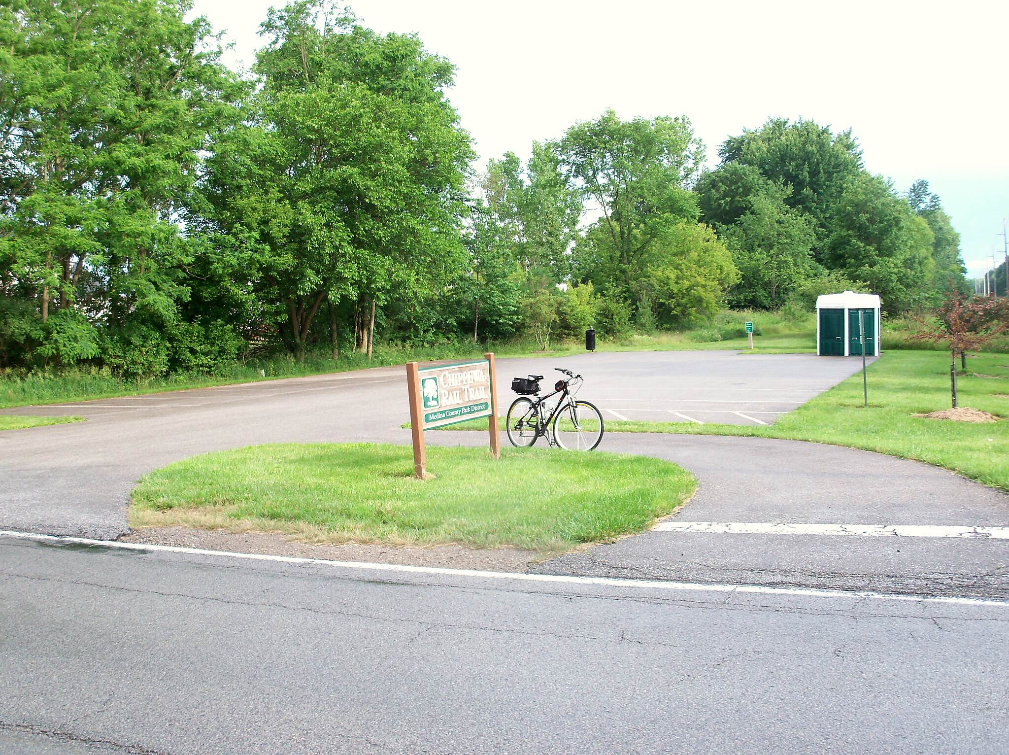 Chippewa Rail-Trail parking lot