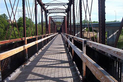 Chippewa River State Trail  Old train bridge in Eau Claire has great views