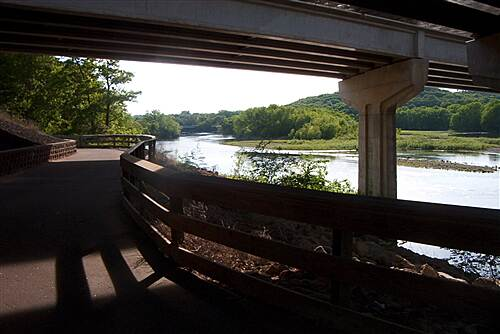 Chippewa River State Trail  Trail view from under EC bridge