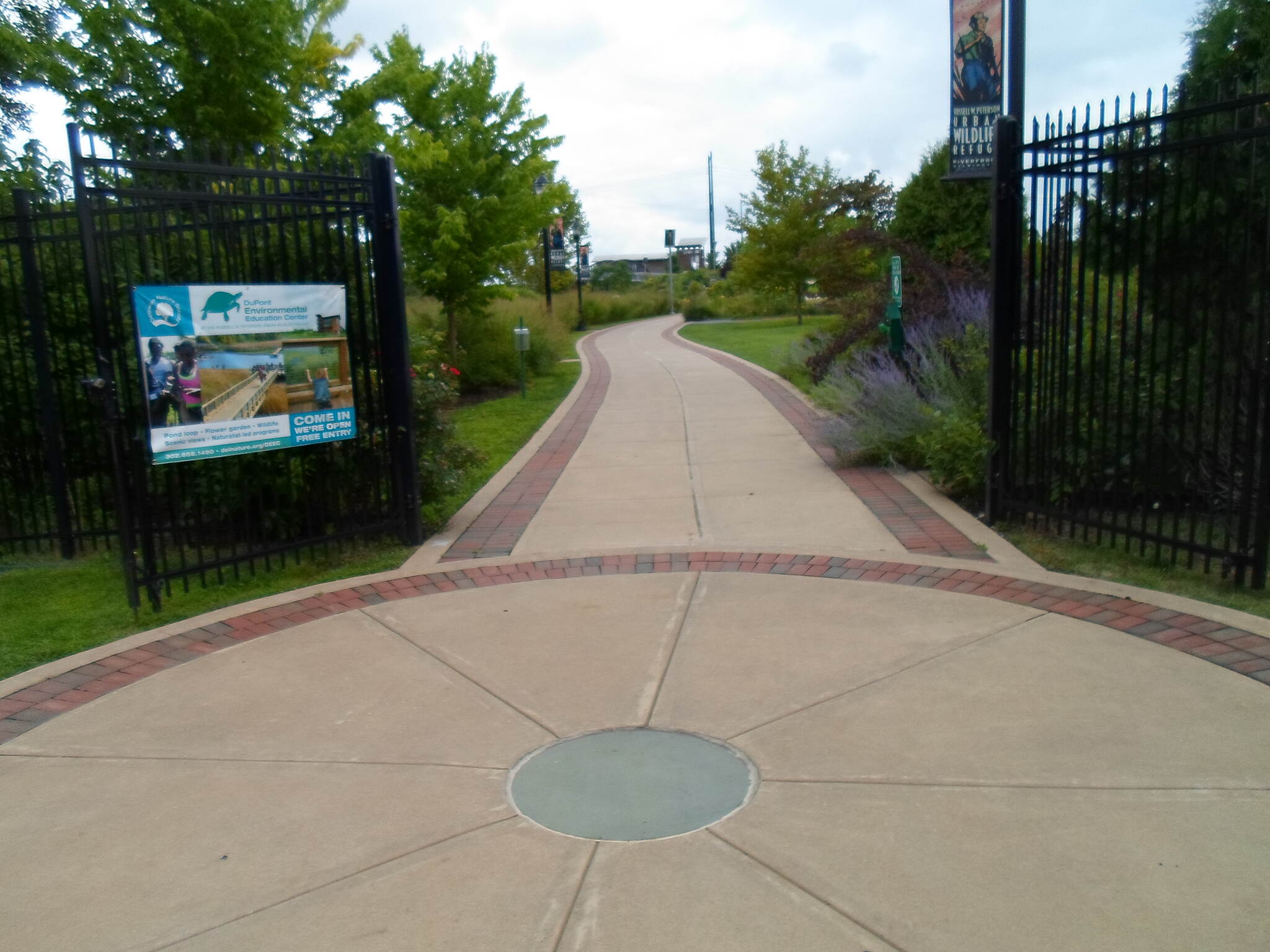 Christina Riverwalk Christina Riverwalk Gates to the Russell Peterson Urban Wildlife Refuge. Taken August 2014.