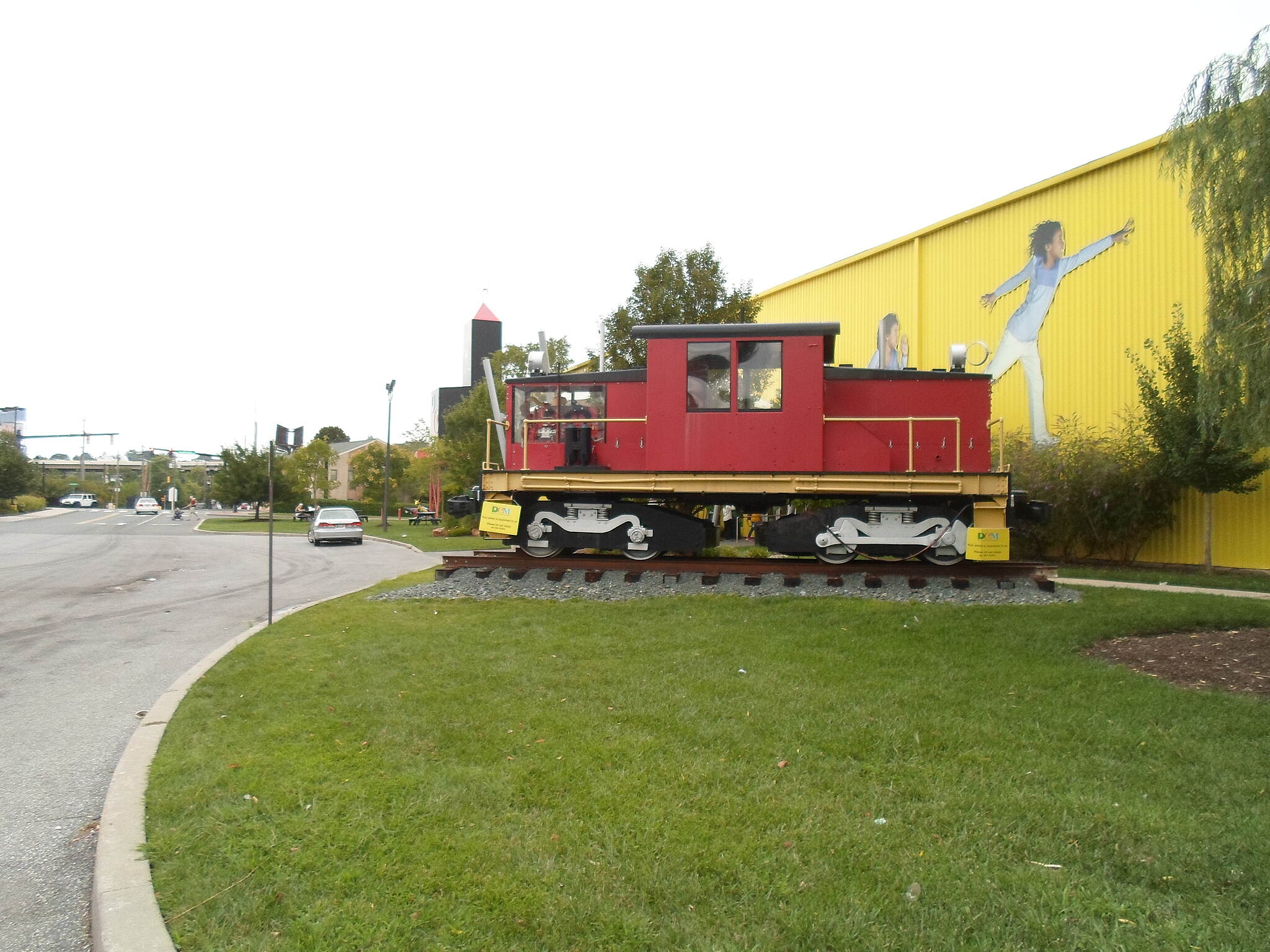 Christina Riverwalk Christina Riverwalk Restored train engine outside the Childrens' Museum.