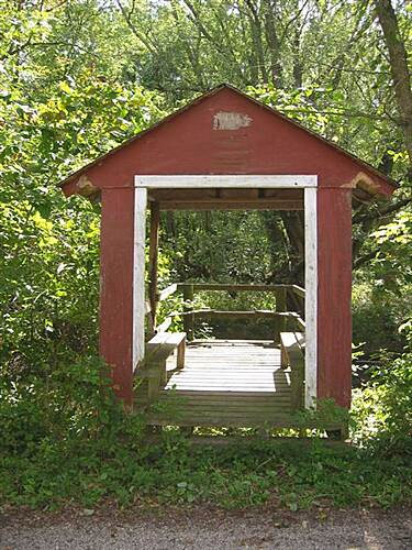 Cinder Path Shelter with lookout over Chariton River Shelter with lookout over Chariton River