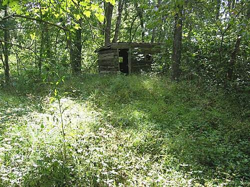 Cinder Path A cabin built from railroad ties A cabin built from railroad ties