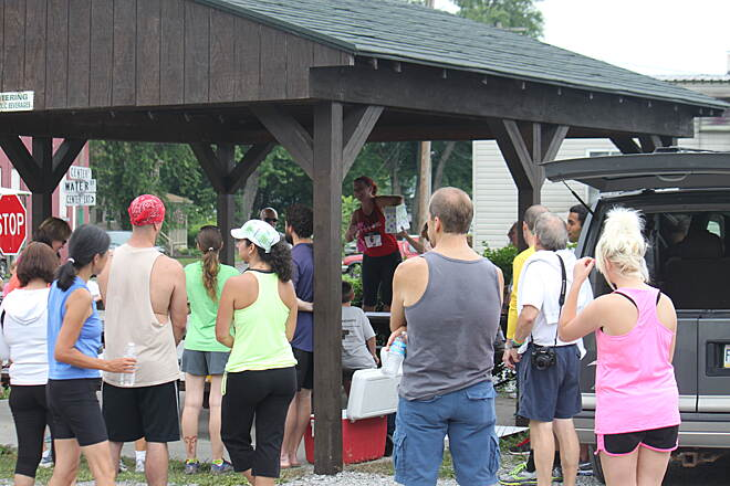 Clarion-Little Toby Trail Clarion-Little Toby Creek Trai 5K run this day.  Winners are being announced in Ridgeway